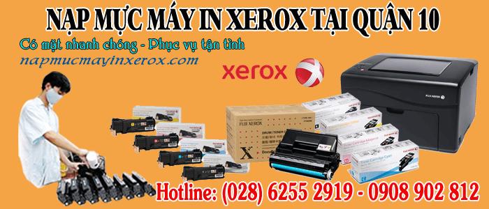 nạp mực máy in Xerox quận 10