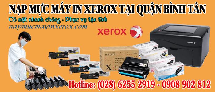nạp mực máy in xerox quận Bình Tân